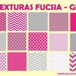 Texturas Fucsia y Gris – Papel Digital