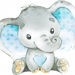 Elefantito celeste