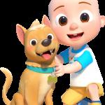 JJ cocomelon y perro