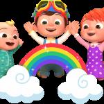 Rainbows logo cocomelon