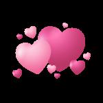 corazones rosados 2