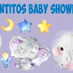 Elefantitos Baby Shower PNG Clipart transparente