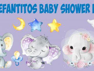 elefantitos baby shower png