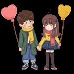 enamorados globo
