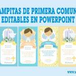 Estampitas Primera Comunión de Niño Editables en Powerpoint Gratis