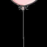 globo rosa elefante