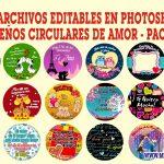 Diseños Circulares de Amor Editables en Photoshop Gratis Pack 1