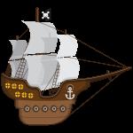 mickey pirata barco