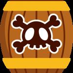 mickey pirata barril