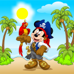 mickey pirata fondo