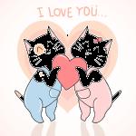 novios gatitos