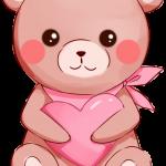 oso corazon