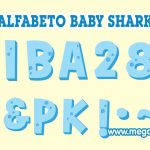 Alfabeto celeste Baby Shark Clipart PNG
