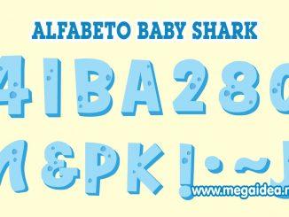 Alfabeto baby shark celeste