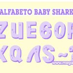 Alfabeto lila Baby Shark Clipart PNG