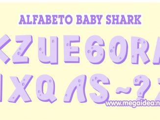 Alfabeto baby shark lila 1