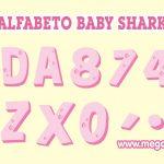 Alfabeto Rosa Baby Shark Clipart PNG