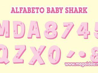 Alfabeto baby shark rosado