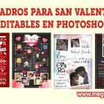 Cuadros para San Valentin  Editables en Photoshop GRATIS
