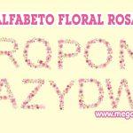 Alfabeto Floral Rosa Clipart PNG