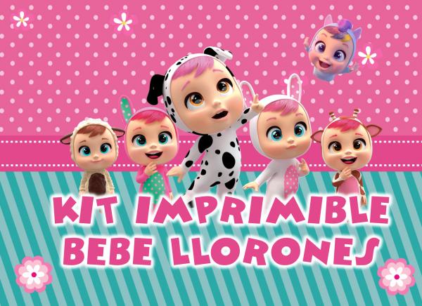 kit imprimible bebe llorones