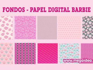 papel digital barbie
