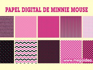 papel digital minnie mouse