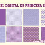 Papel Digital – Fondo Morado Princesa Sofia