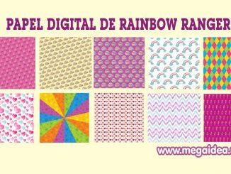 papel digital rainbow rangers