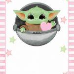 Fondo Invitacion Baby Yoda 06 megaidea