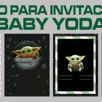 Fondo para Invitaciones de Baby Yoda