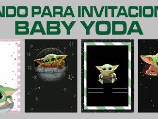 Fondo para invitaciones Baby Yoda