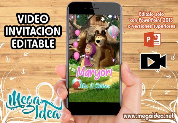 VIDEO Invitacion Masha y el Oso