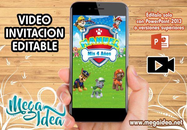 VIDEO Invitacion Paw Patrol