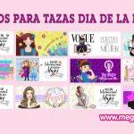 Fondos para Sublimar tazas Día de la Mujer en JPG