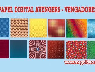 papel digital avengers