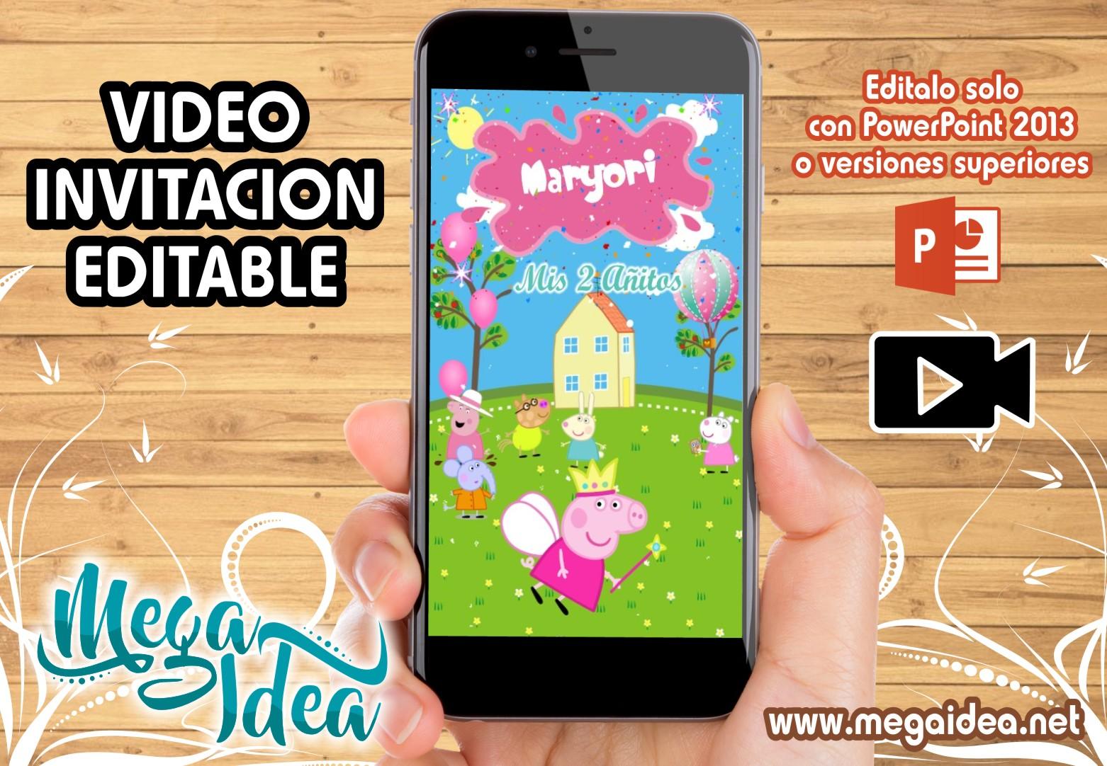 VIDEO Invitacion Peppa Pig