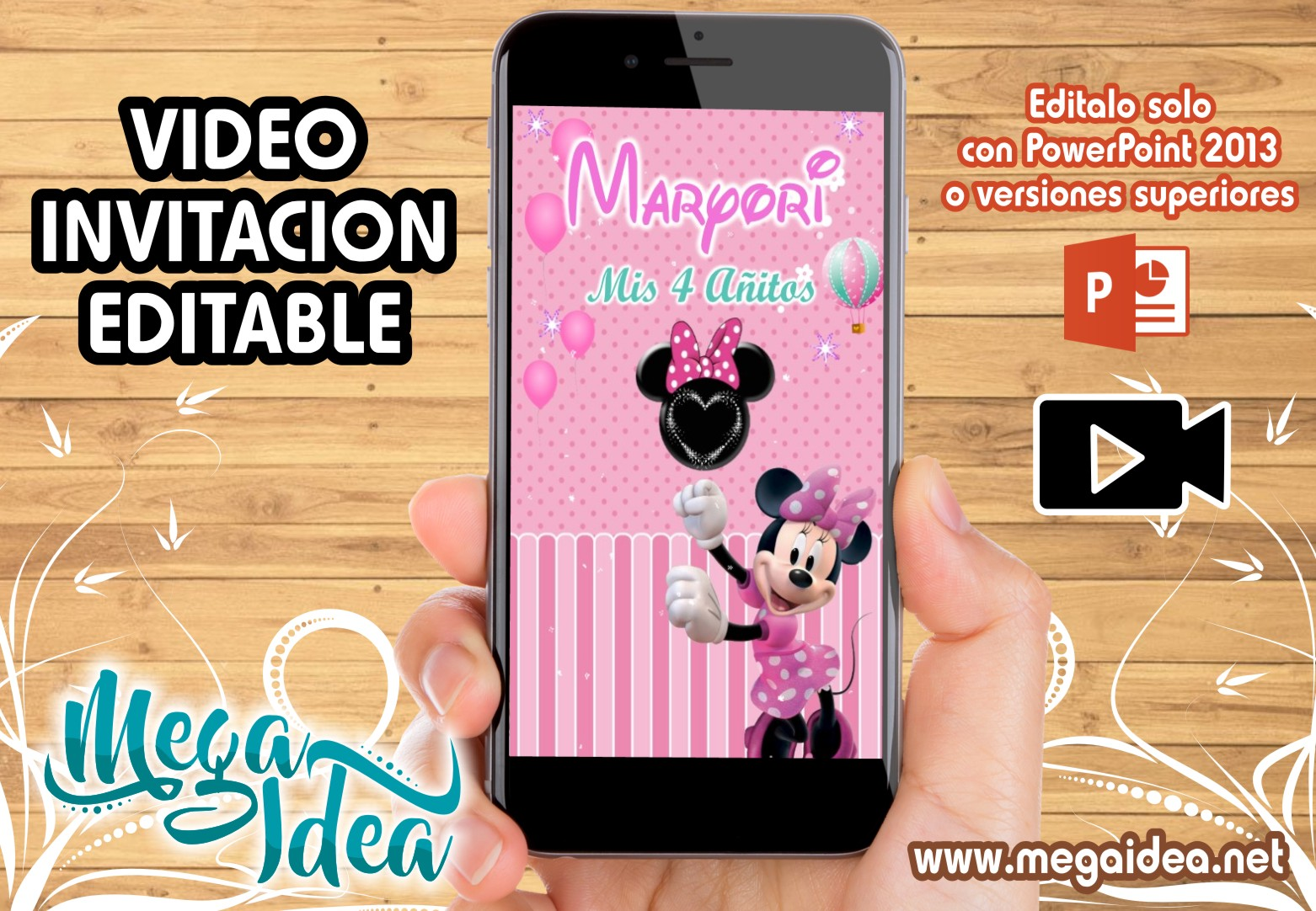 Video Invitacion Minnie Mouse