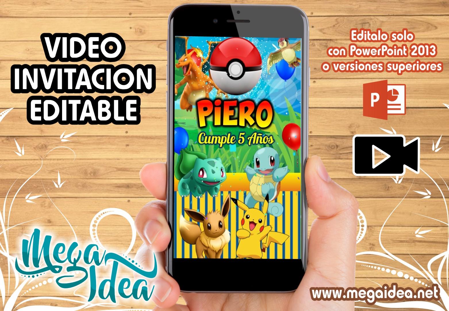 Video Invitacion Pokemon