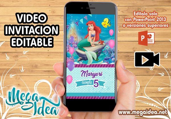 Video Invitacion Sirenita