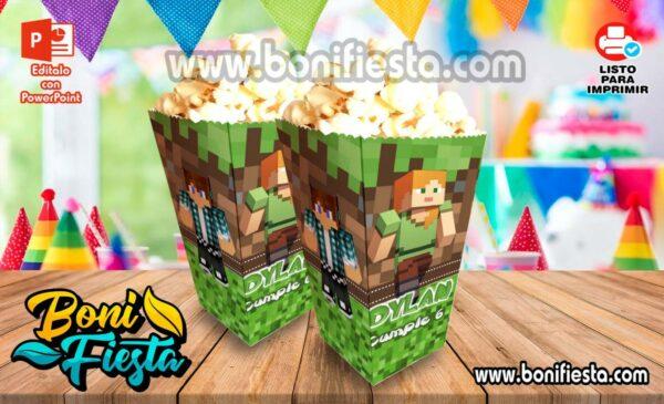 Cajita POPcorn Minecraft 600x365 1