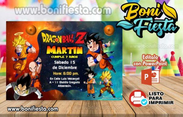 Dragon Ball Z invitacion muestra 1024x658 copia