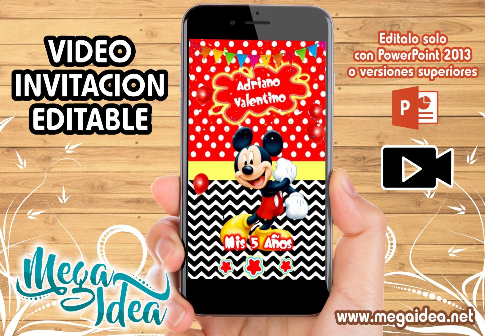 Video Invitacion Mickey Mouse