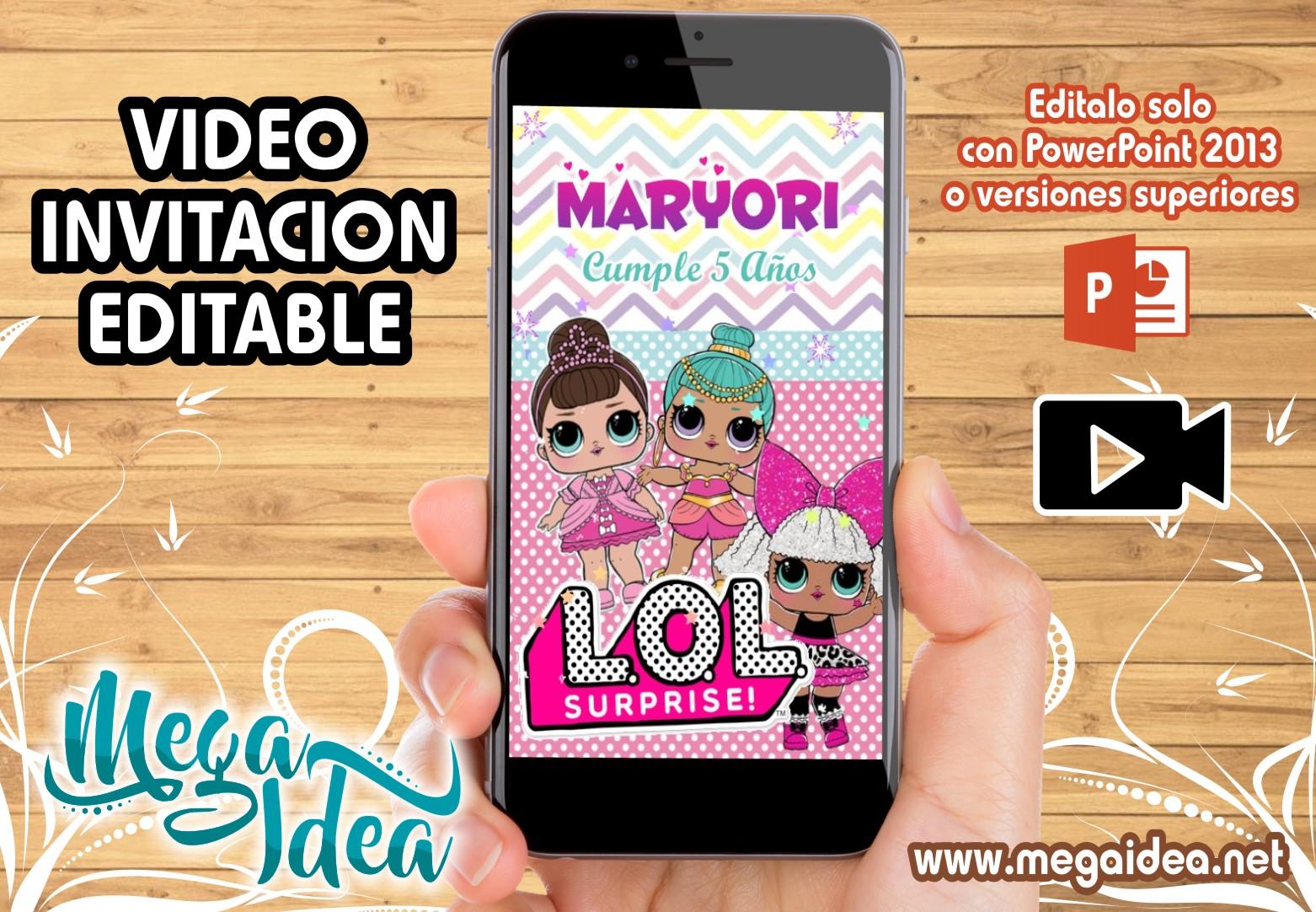 Video Invitacion Munecas Lol