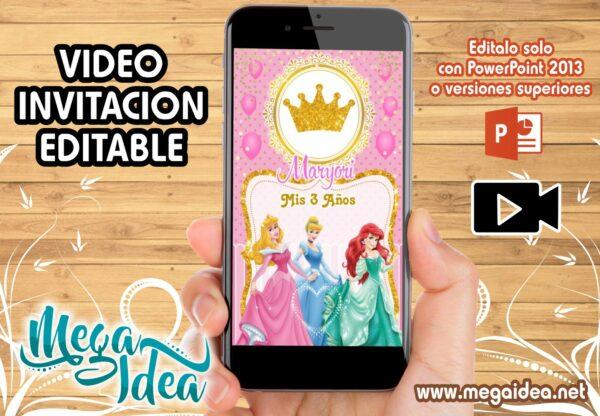 Video Invitacion Princesas Disney