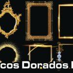 Frames o Marcos Dorados PNG