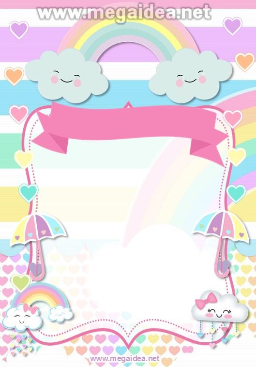 FONDO Invitacion Baby Shower Lluvia de Amor 1