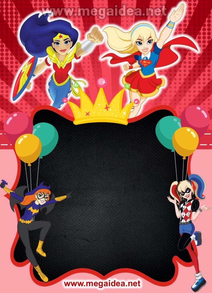 FONDO invitacion DC SuperHero Gir