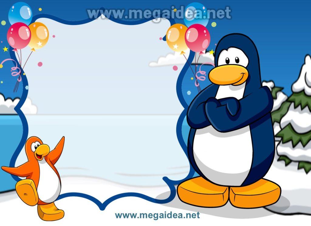 FONDO invitacion penguin
