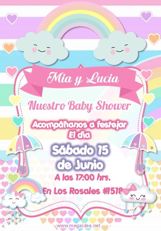Invitacion Baby Shower Lluvia de Amor